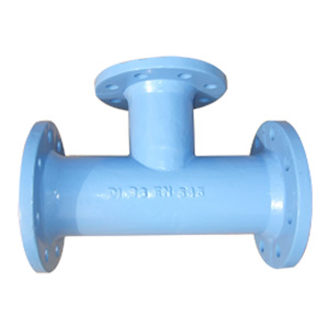 Ductile Iron Pipe Tee, All Flanged Ends